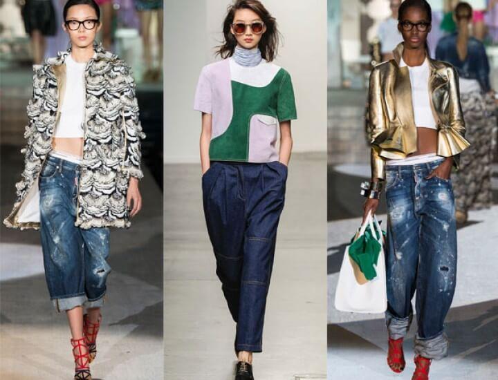 женские джинсы с широкими штанинами