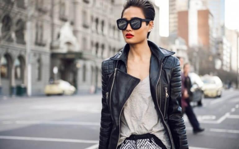 кожаная куртка женская 2016