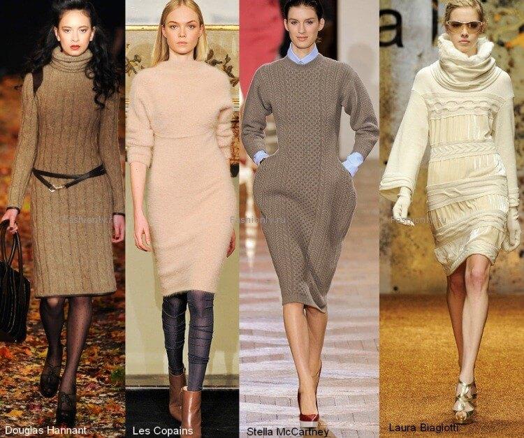 Мода на осенние платья