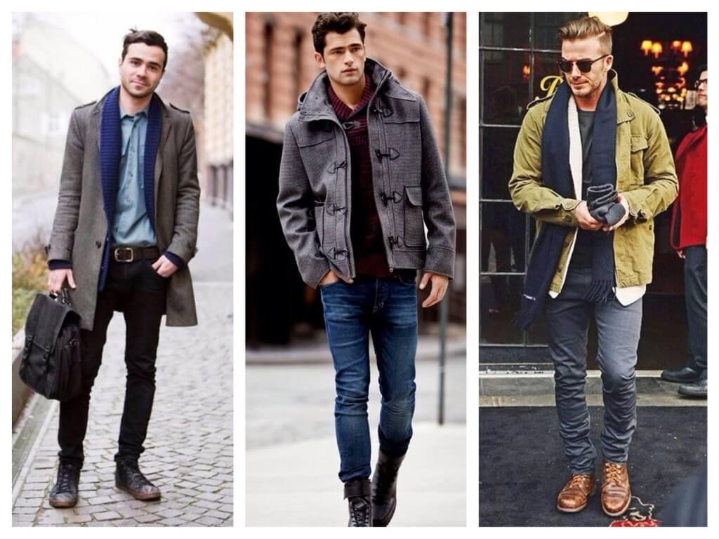 зауженные джинсы и брутальная обувь