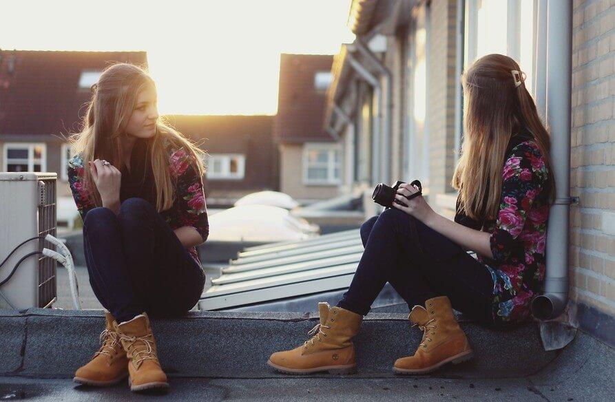 девушка ботинки Тимберленд