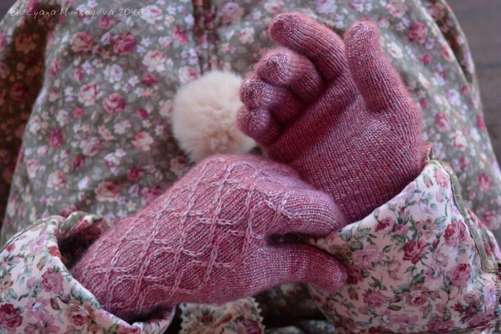 женские шерстяные перчатки