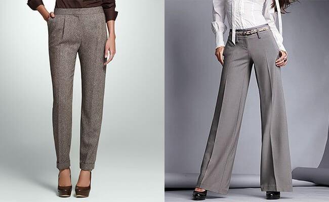 брюки, которые имеют по всей длине равную ширину