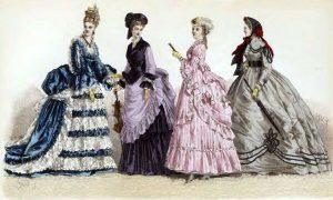 женская одежда 18 век