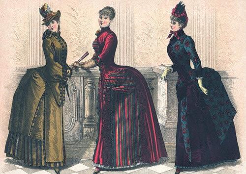 женская одежда турнюр