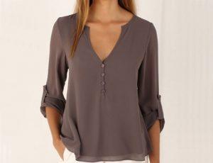 блузка V–вырез
