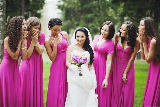 платье на свадьбу подружкам невесты