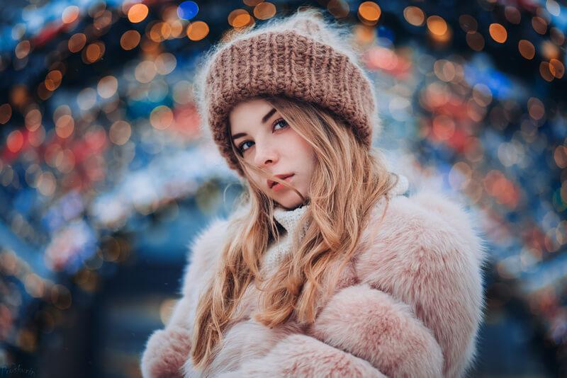 девушка в шубе 2018