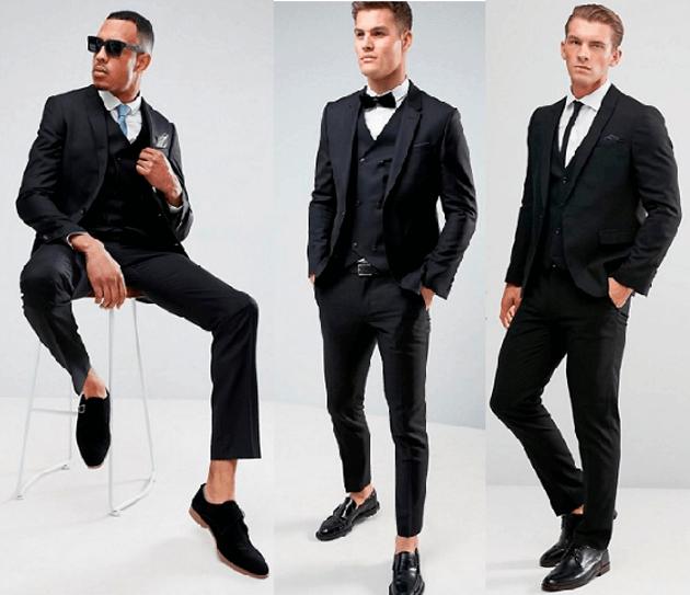 мужской костюм чёрный