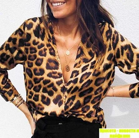 блузка с животным принтом